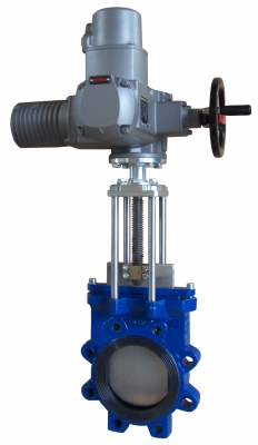 MG ZNE knife gate valves with electromechanical drive